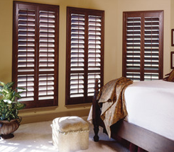 Bedroom with Window Shutter